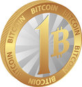 Bitcoin isolated coin of one cryptocurrency Stock Photography
