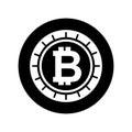 Bitcoin money electronic icon