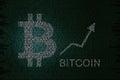Bitcoin price Royalty Free Stock Photo