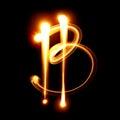 Bitcoin sign - Light drawing