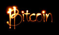 Bitcoin sign and word