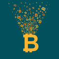 Bitcoin virtual currency concept illustration