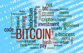 Bitcoin word cloud Royalty Free Stock Photo