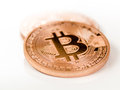 Bitcoins bit coin btc the new virtual money Stock Photo