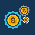 Bitcoins investment business icons