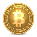 Bitcoins isolated on white money vector eps Royalty Free Stock Photography