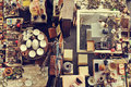 Bits and pieces in a flea market Royalty Free Stock Photo