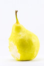 Bitten pear on a white background Royalty Free Stock Photography