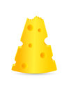 Bitten piece of cheese Royalty Free Stock Photos