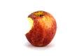 Bitten red apple isolated fresh Stock Photos