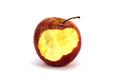 Bitten red apple isolated fresh Stock Images