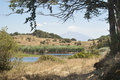 Biviere lake with views of Etna Royalty Free Stock Image