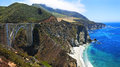 Bixby bridge big sur california the iconic creek with highway and the coast Royalty Free Stock Photos