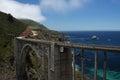 Bixby Bridge California Coast Royalty Free Stock Photo