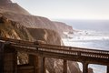 Bixby bridge a view of out to the pacific ocean near big sur california usa Stock Images