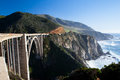 Bixy bridge a view of bixby out to the pacific ocean near big sur california usa Royalty Free Stock Images