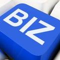 Biz Key Shows Online Or Web Business Royalty Free Stock Photo