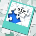 Biz photo means internet company or commerce meaning Royalty Free Stock Image