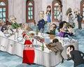 Bizarre banquet Royalty Free Stock Photo
