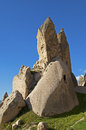 Bizarre rocks made of volcanic tuff rock cappadocia turkey Royalty Free Stock Photo