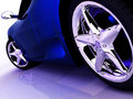 Blå bilsport Arkivfoto