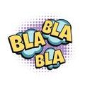 Bla comic word