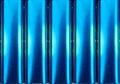 Blåa elektriska metalltins Arkivfoton