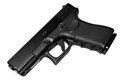 Black 9mm handgun isolated Royalty Free Stock Image