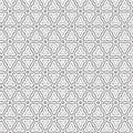 Black Abstract Draw Flower Geometric Hexagonal Grid Pattern Background Vector Illustration