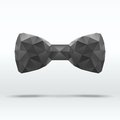 Black abstract fashion bow tie beautiful of triangles vector illustration eps editable and Stock Image