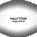 Black Abstract Halftone Design Element, vector