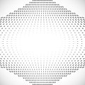 Black Abstract Halftone Design Element, vector