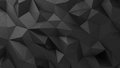 Black abstract rumpled triangular surface