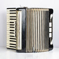 Black accordion opened Stock Photography