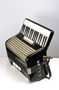 Black accordion side view Royalty Free Stock Photos