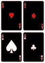 Black Aces Royalty Free Stock Photo