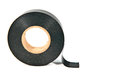 Black adhesive tape old and dirty Royalty Free Stock Photos