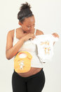 Black African woman pregnant metisse Royalty Free Stock Photos