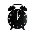 Black alarm clock isolated on white background Stock Photos
