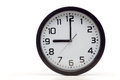 Black analog clock Royalty Free Stock Photo