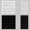 Black anb white puzzles this is file of eps format Stock Photo