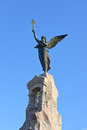Black angel sculpture in tallinn estonia Stock Photos