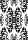 Black antique damask Royalty Free Stock Images