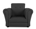 Black armchair isolated on white background Stock Photo