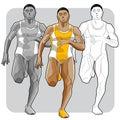 Black athlete