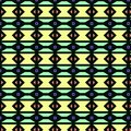 Black background with colorful geometrical figures Royalty Free Stock Photo