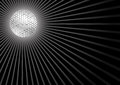 Black background with disco ball Royalty Free Stock Images