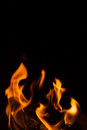 Black background flame shape Royalty Free Stock Photo