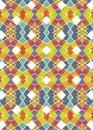 Black Background with Geometric Grunge Borders Royalty Free Stock Photo