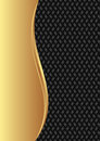 Black background gold and with braid texture Stock Photos